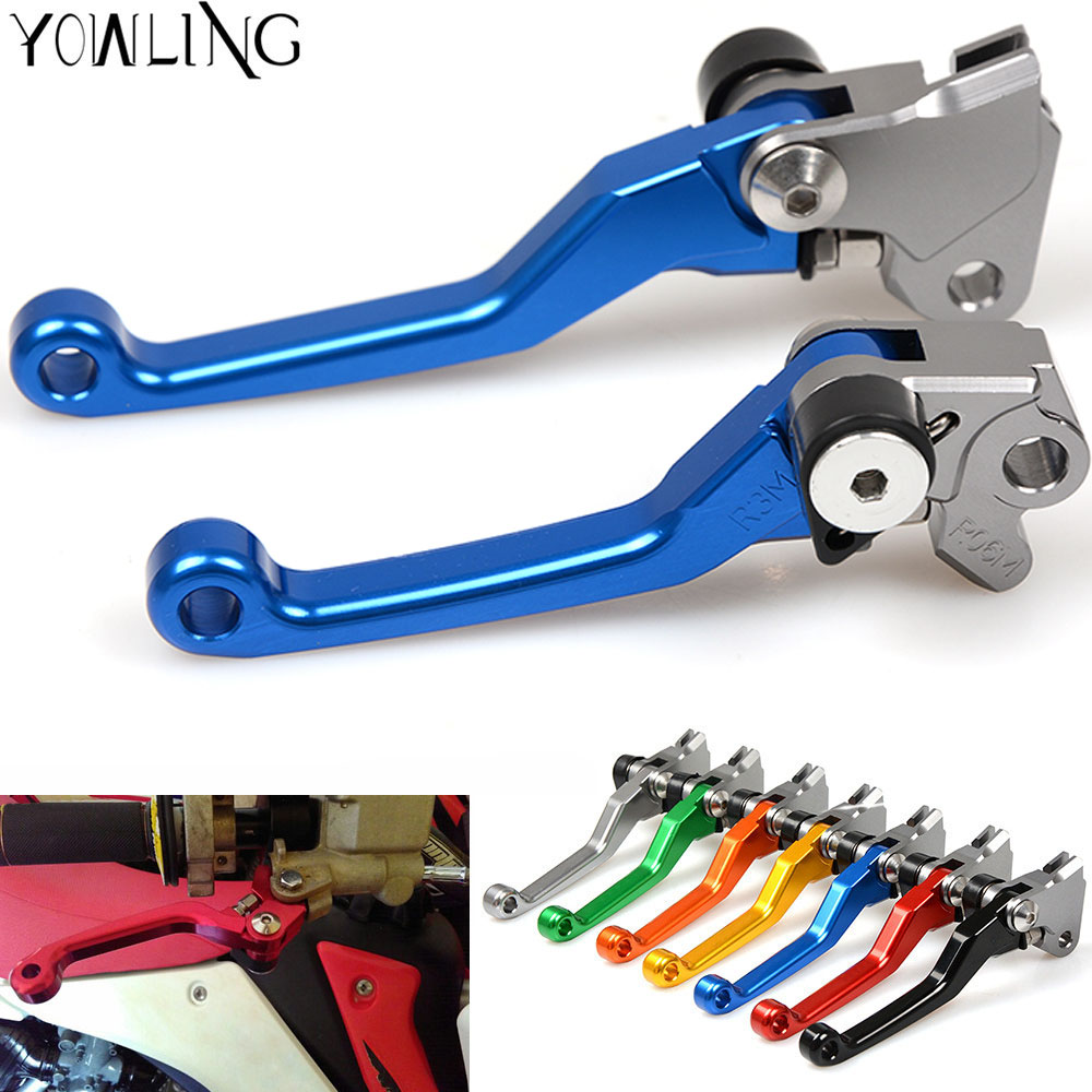 Motocross Pit Dirt Bike Brake Clutch Lever Handle For yamaha TTR250 TTR 250 1993 1994 1995 1996 1997 Pivot Brake Clutch Levers retro tinplate metal motocross models collection classic handmade arts and crafts dirt bike model