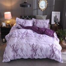 Einfache Marmor Bettwäsche Bettbezug set Quilt Abdeckung Twin König Größe Mit Kissen Fall Polyester Mikrofaser Stoff Luxus Soft Bett