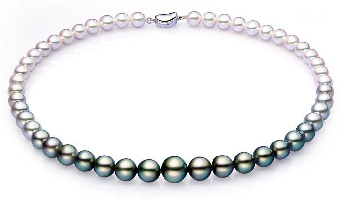 9 12ммм Южное море круглые белые черные разноцветные жемчужные ожерелья 18 дюймов