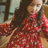 2017 Newest Girls Flores Dress Korean Design Christmas New Year Clothing Cute Party Clothes For Age5678910