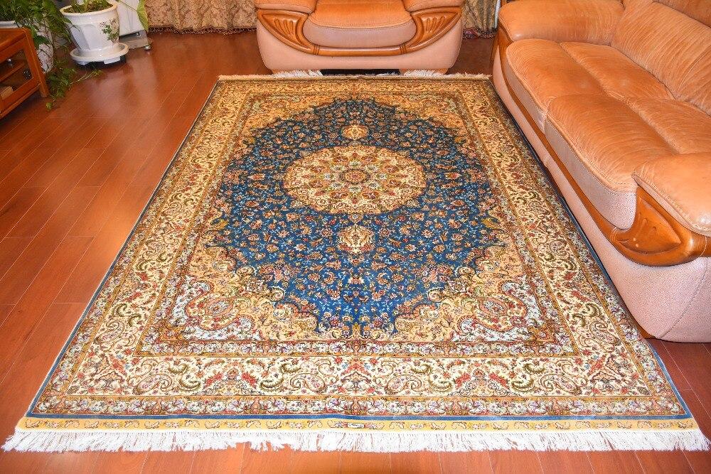 Tapis en soie de grande taille 6'x9 'tapis en soie faits à la main tapis persans classiques noués à la main