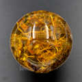 2pcs 48mm Synthetic Amber Real Scorpion Gem Stones Round Ball Crystal Healing Sphere Massage Rock Stones Decor Jewelry