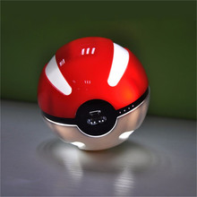 Free shipping Pokemon Go Pokeball Power Bank Game 10000 mAh Quick Charge Magic LED Ball Charger