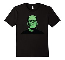 Frankenstein Monster Design T-Shirt 2017 New Short Sleeve Men T Shirt Cotton 100% Top Tee Middle Aged Plus Size