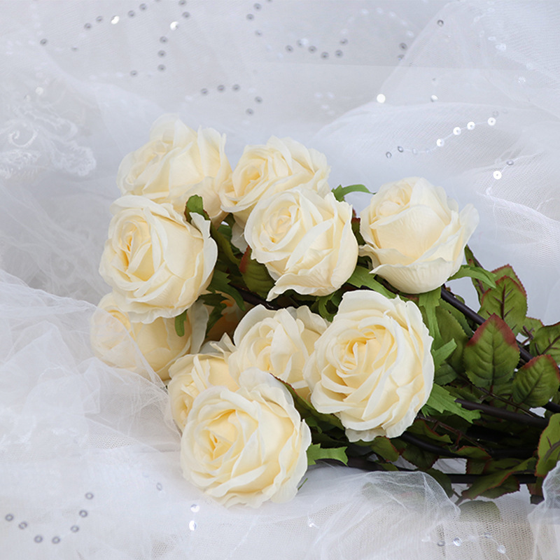 Klonca Luxury New Silk Flower 60cm 1pc/lot Fake Artificial Rose Wedding Home Decoration