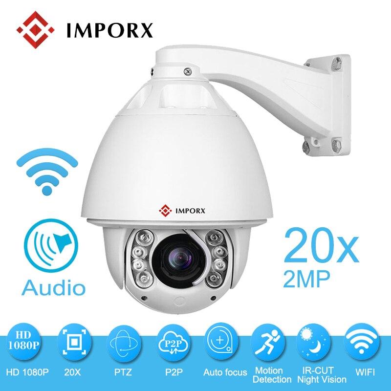 2.0MP 1080 P IP PTZ caméra Wifi IR Vision nocturne extérieure étanche caméra de sécurité sans fil Surveillance 20X Zoom dôme caméra