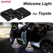 ROVFNG Bem-vindo LED Porta Do Carro de Luz Para Toyota Corolla Camry Highlander Tundra Land cruiser Prius Yaris Avensis RAV-4