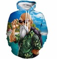 Master Roshi Printed hoodies 2017 Men Fashion Japan Anime Dragon Ball Z tracksuit Hipster harajuku fleece sweatshirt fall winter