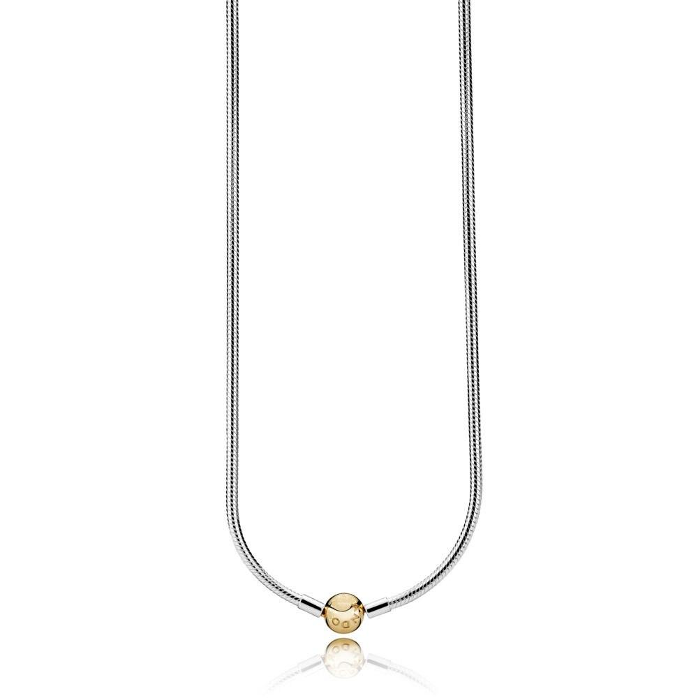 SHINETUNG 1:1 S925 collier en argent Sterling lisse avec fermoir rond bijoux de luxe pour femmes