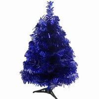 60cm Encryption Christmas Tree With Feet Creative Blue Color Tree for Christmas Decoration Artificial Christmas Tree Desk Decor