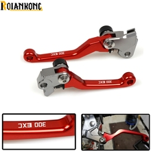 With LOGO 300EXC Motocross CNC Pivot dirt Bike Brake Clutch Lever Handle For KTM 300EXC 300 EXC (SIX DAYS) 2014 - 2017 2018 цена в Москве и Питере