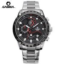 Casima marca top sport mens relojes de moda reloj de cuarzo calendario luminoso impermeable reloj de los hombres de múltiples funciones al aire libre