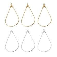Aiovlo 50pcs/lot Copper Metal with Holes Popular Geometric Water Drop Pattern Earrings Pendants DIY Handmade Jewelry Accessories