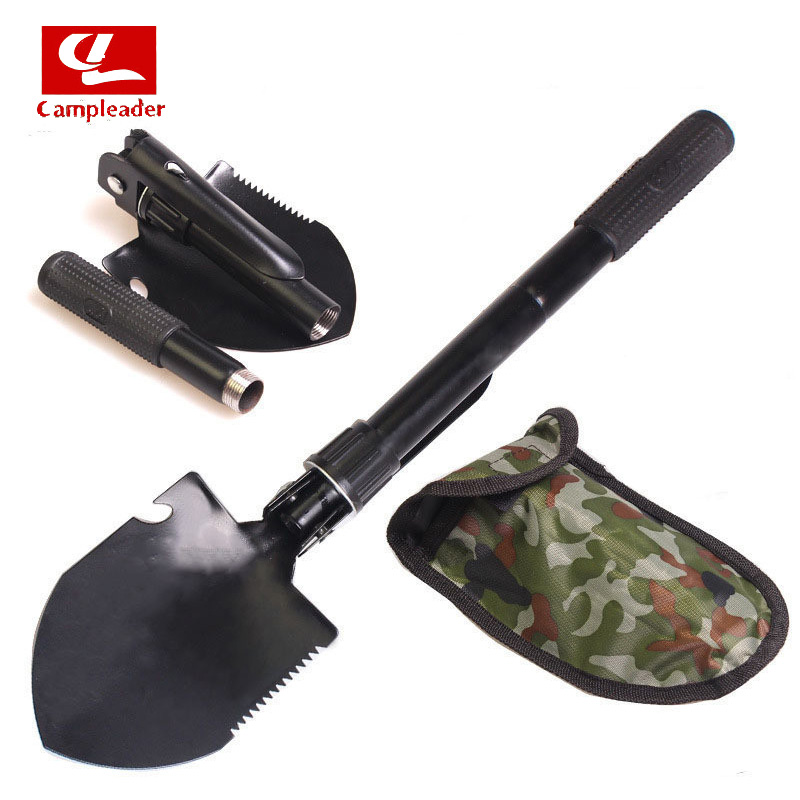 Campleader Multi-function Military Portable Folding Shovel Survival Spade Trowel Dibble Pick Emergency Garden Outdoor Tool CL106
