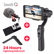 В наличии! zhiyun гладкой Q 3 оси ручной смартфон Gimbal стабилизатор Портативный штатив Стенд для iphone Samsung Huawei Gopro Hero