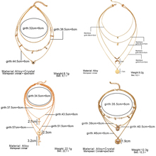 New Multi-Layer Crystal Moon Necklaces & Pendants
