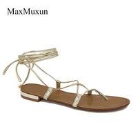 Lace Up Gladiator Flat Sandal
