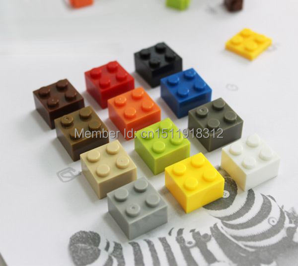 100pcs/lot  2X2* DIY Enlighten Toy Plastic Building Block Bricks For Kids Compatible With Lego Assembles Particles 12 Colors free shipping the tian an men diy enlighten block bricks compatible with other assembles particles