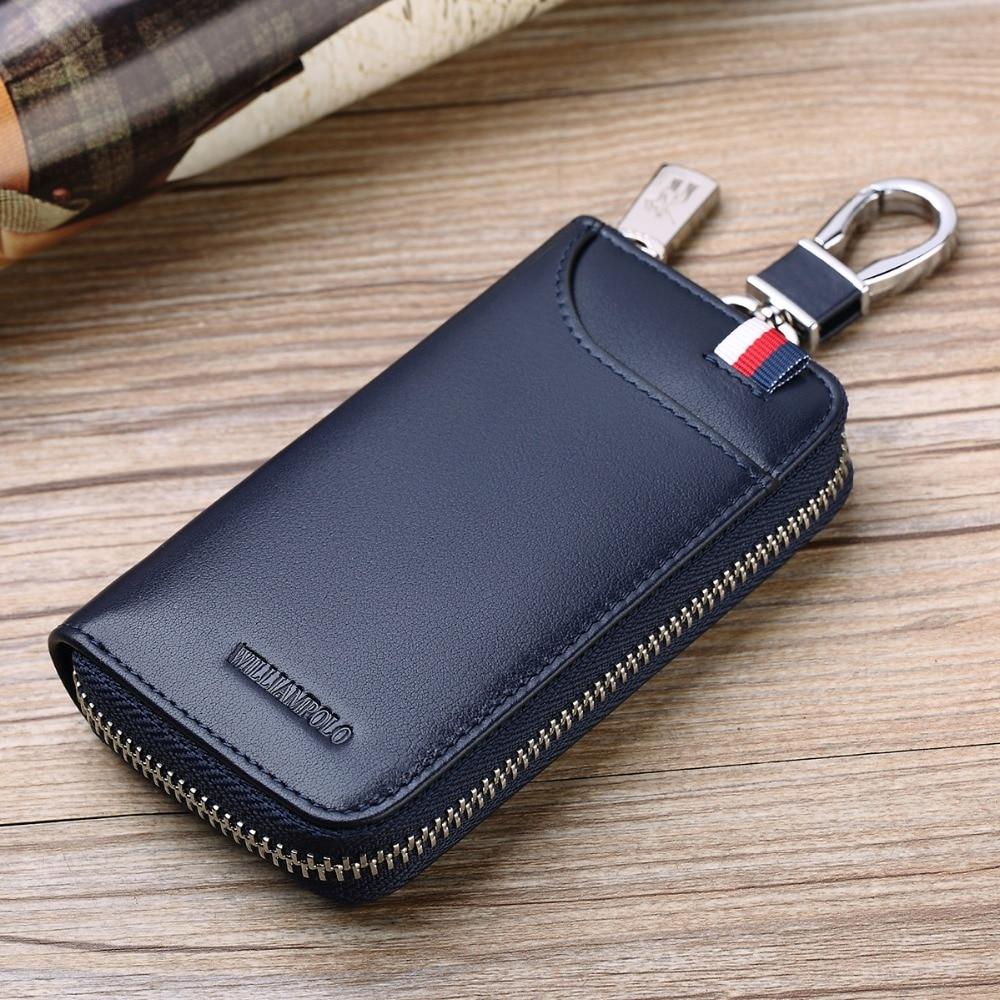 Mini Portemonnee Heren.Williampolo Lederen Auto Portemonnee Multi Functie Key Case Mannen