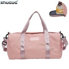 2019 Nylon Luggage Shoulder Bag Sports Waterproof Men Gym Bags With Shoe Training Bag Double Zipper Travel Duffle Bag For Women