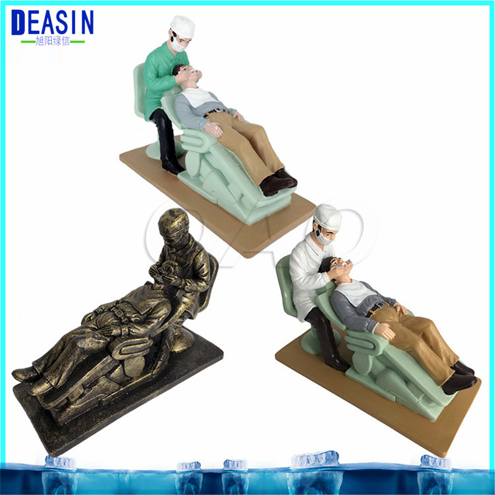 2018 Dental cartoon character model Couple Sculpture patient Dental Clinic Decoration Furnishing Articles Creative Artwork dentist gift resin crafts toys dental artware teeth handicraft dental clinic decoration furnishing articles creative sculpture