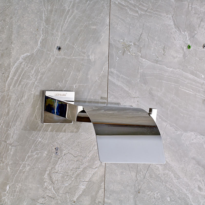 ФОТО Free Shipping High Quality Bathroom Toilet Paper Holder Wall Mounted Polished Chrome