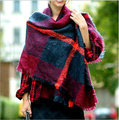 Za Brand Winter Scarf 2015 New Design Tartan Plaid Scarf Unisex Soft Acrylic Basic Shawls Wrap Women's Big Size Scarves190*70cm
