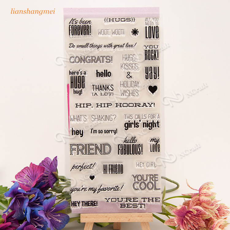 CONGRATS Silicone Stamp for DIY scrapbooking/photo album Decorative craft 220 unique high quality several patterns airbrush painting stencil diy home decorative scrapbooking album craft tool 233653