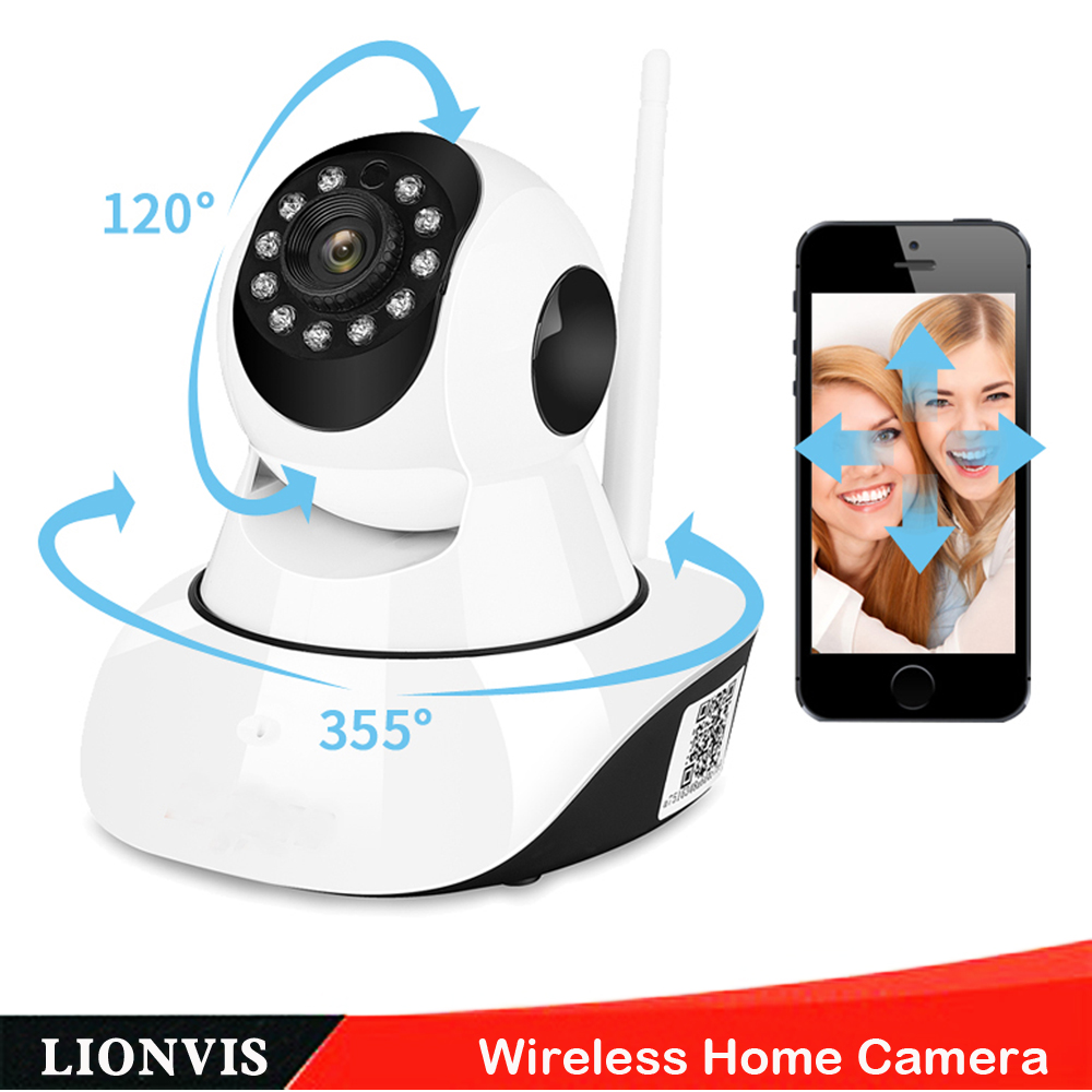 HD 720P Wireless IP Camera P2P Plug Play  Pan/Tilt With Two Way Audio TF Card Record Night Vision Wifi Home Baby Monitor Camera neo coolcam hd 720p megapixel dome ip camera wifi pan tilt rotate p2p wireless support sd card ir night vision two way audio