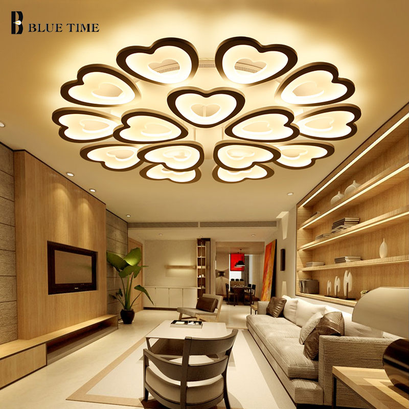 White Simple Modern Led Ceiling Lights For Living Room Bedroom Acrylic Led Ceiling Lamp Lustres Home