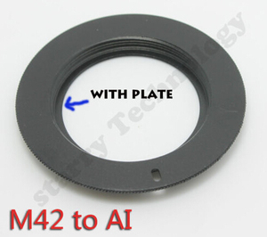 Image 4 - 10PCS X new M42 lens to AI FOR Nikon AI mount adapter with plate D7000 D5100
