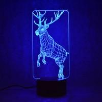 Creative Table Lamp 3D LED Visual Colorful Light Fixture USB Baby Sleep Night Light Novelty Fashion