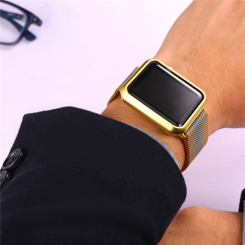 cheaper 9f52f bd9fe US $4.99 |Protect Case for Apple Watch Series 2 & 1 Accessory Ultrathin  Yellow Gold/Rose Gold Plated 42mm/38mm APB1756-in Watchbands from Watches  on ...