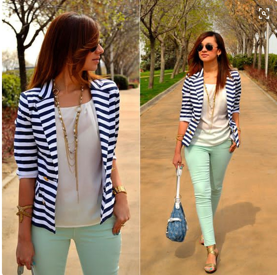 Hot Blazer Women New 2016 Striped Color Jackets Suit Slim Yards Ladies Blazers Work Wear Jacket