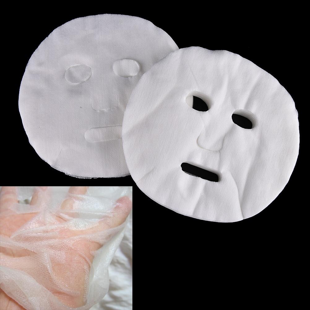 100pcs/pack Disposable Facial Mask Pure Cotton Paper Facemask Sheet DIY Cosmetic Face Skin Care Mask Facial Care Tools