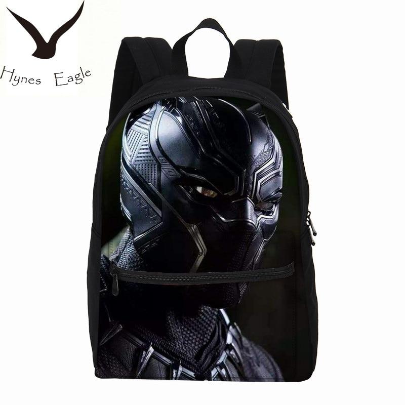 Hynes Eagle Brand Black Panther Printing Backpacks For Boys Girls Fashion Casual Canvas Bag Travel Backpacks Laptop Backpacks