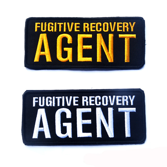 10pcs Fugitive Recovery AGENT Tactical Operator Hat Patches 3D Badge Fabric  Armband Badges Stickers Morale Patches Military 523e940f000