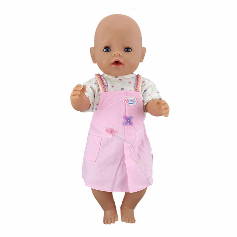 2Pcs in 1, Coat+Skirt Doll Clothes Wear fit for 43cm Baby Doll , Children best Birthday Gift