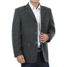 Spring and autumn men's clothing suit mens casual woolen suit blazer masculino blazer men grey costume homme 2017 autumn S – 2XL