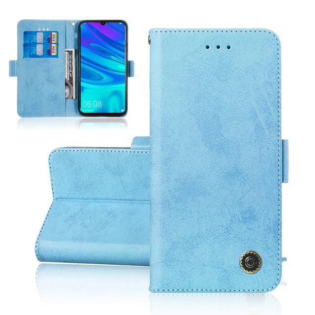 Book Flip PU Leather Wallet Case For Huawei P Smart 2019 Case Etui Stand Card Slots Phone Case For Fundas Huawei Honor 10 Lite