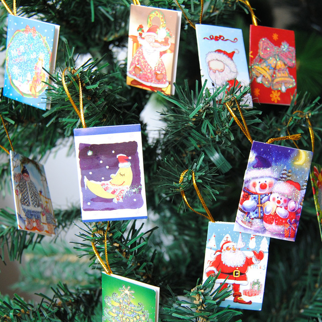 100pcs Christmas Tree Accessories Wish Cards Merry Christmas Home Decoration  Christmas Eve Ornaments Valentines Day Candy
