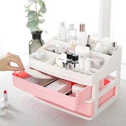 Plástico cosméticos caixa de armazenamento jóias unha polonês maquiagem recipiente gaveta cosméticos escritório em casa desktop sundries organizadores