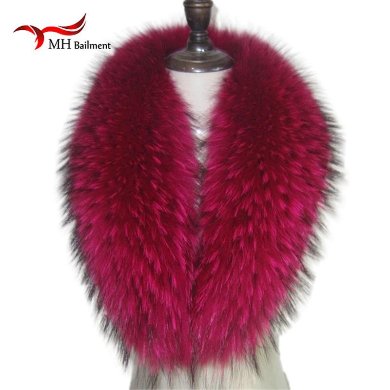 Originální mývalí kožešinový límec pro bunda s odnímatelnou kožešinovou šátkem Červená barva Velký kožešinový límec pro ženy dolů L08