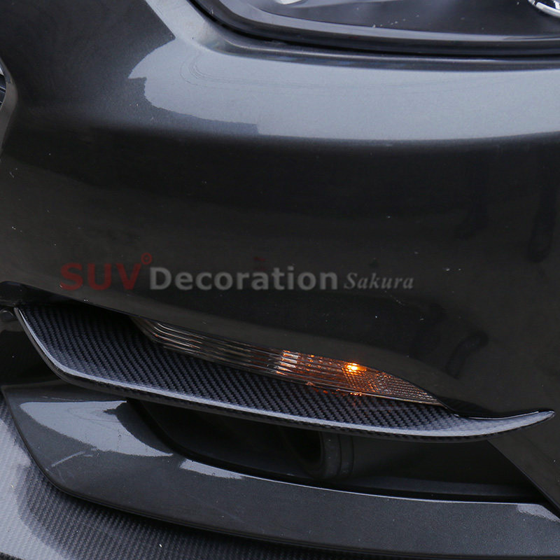 15-17 For Ford Mustang 2015-2017 Exterior Carbon Fiber Front Fog Lamp Eyebrown Cover  Trim  2pcs Accessories Car Ato 15-17 For Ford Mustang 2015-2017 Exterior Carbon Fiber Front Fog Lamp Eyebrown Cover  Trim  2pcs Accessories Car Ato