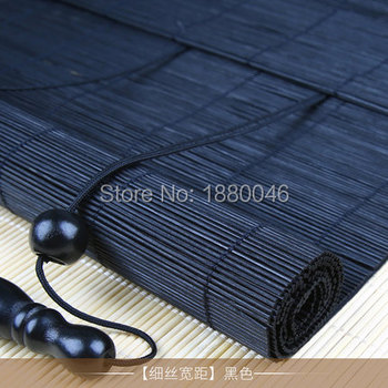 Customized Outdoor Shades Bamboo Slat Curtains Window Roller Blind