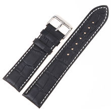 MASAQI High quality Watchband 22mm Watch Strap Band Black Genuine Calf Watchband Bracelet for Omega Tissot Seiko Casio