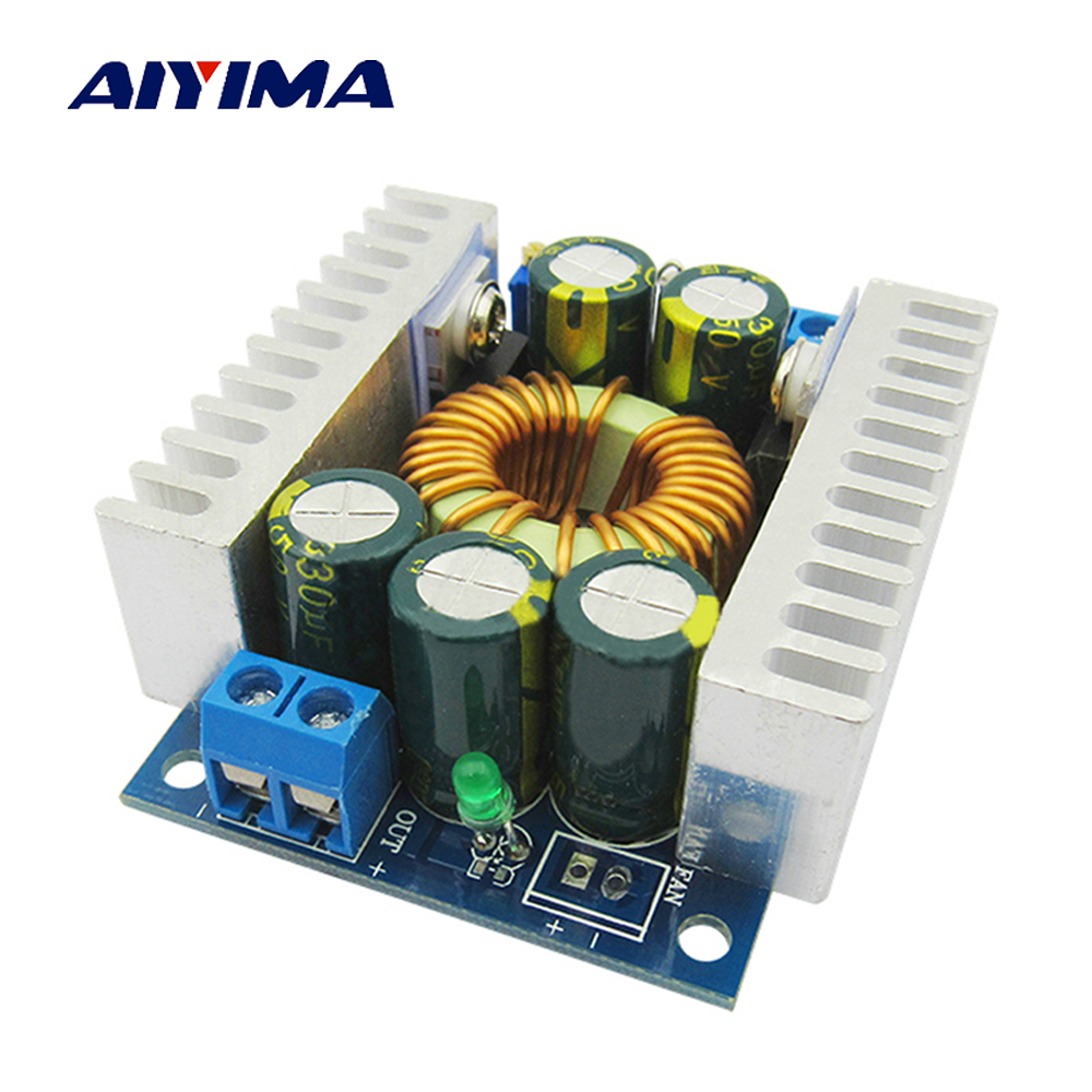 Aiyima DC-DC High Power Low Ripple Efficiency 95% Car 12A Adjustable Buck Regulated Power Supply Module Board 6 55v dc dc adjustable high precision digital buck power supply regulated module page 8