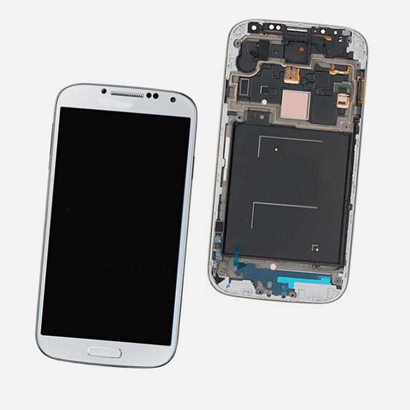 White LCD Touch Digitizer Screen + Frame For Samsung Galaxy S4 i545 L720 R970