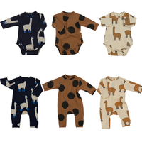 Newborn Baby Rompers Boys Girls Alpace Dot Design Jumpsuits Children Clothes Infant Kids Clothing Tiny Cottons