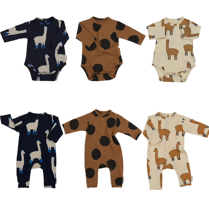 Newborn Baby Rompers Boys Girls Alpace Dot Design Jumpsuits Children Clothes Infant Kids Clothing Tiny Cottons 2017 New cotton baby rompers set newborn clothes baby clothing boys girls cartoon jumpsuits long sleeve overalls coveralls autumn winter